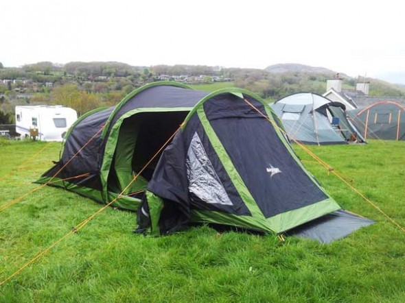 Tent, pitched. Badly....