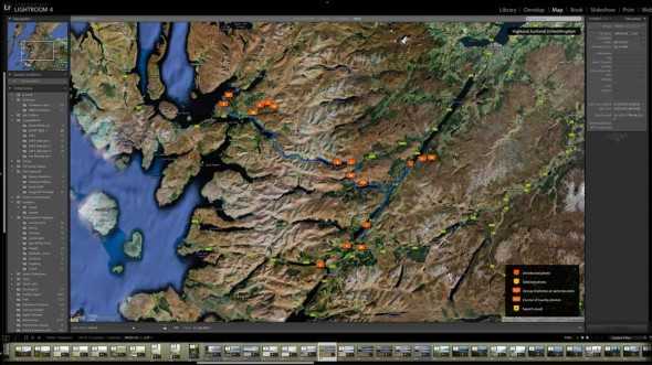 Lightroom Map GPS Tagging