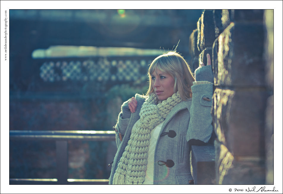 M odel, Charlie Yates in Castlefield by Neil Alexander (Click for larger)