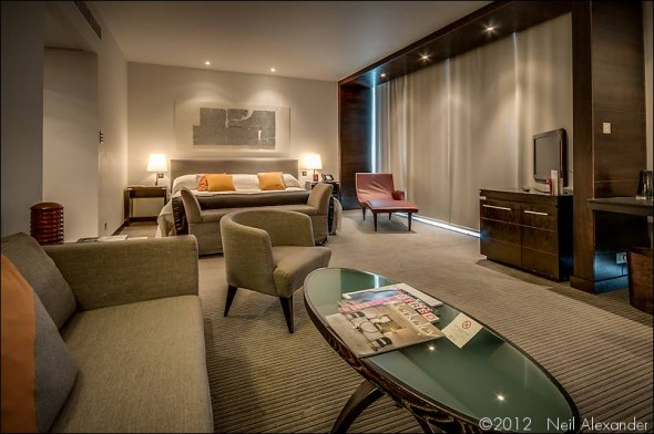 A suite at the Lowry Hotel, Manchester by Neil Alexander