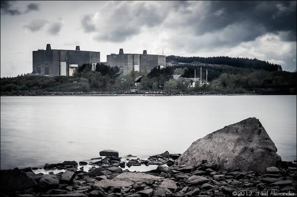 Trawsfynydd disused Magnox nuclear power station