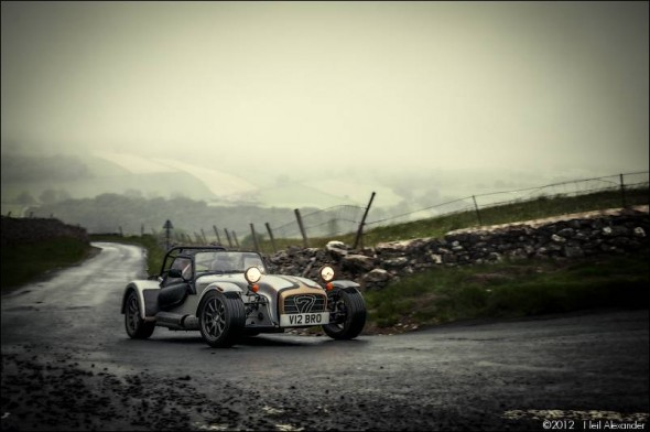Caterham Super 7, in the rain