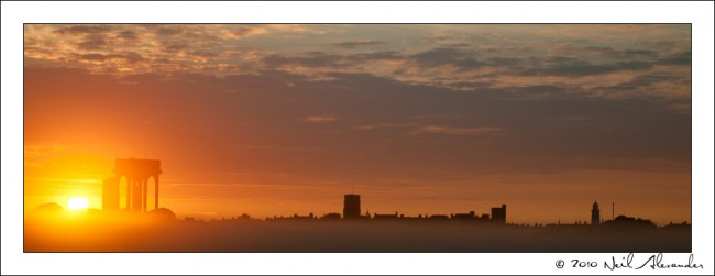 Walberswick, Suffolk at dawn by Neil Alexander