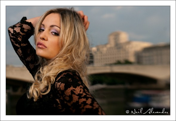 South Bank Portrait Shoot - Karolina Szwemin by Neil Alexander - blurring the background to bring out the subject