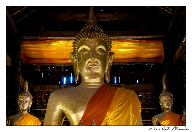 B uddhas in Wat Visounnarath, Luang Prabang by Neil Alexander