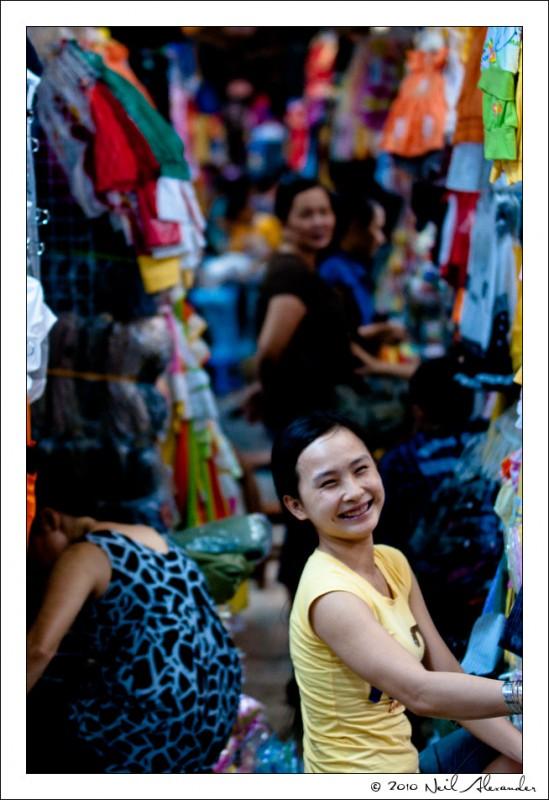 "T he ""Big Market"", Saigon by Neil Alexander"