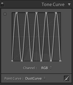 Custom Lightroom Tone Curve for Dust Spotting