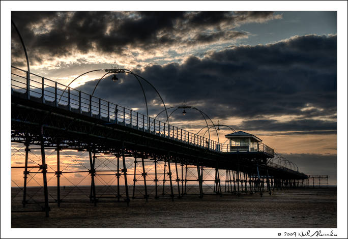HDR of Southport Pier by Neil Alexander of Fill Factor Photography