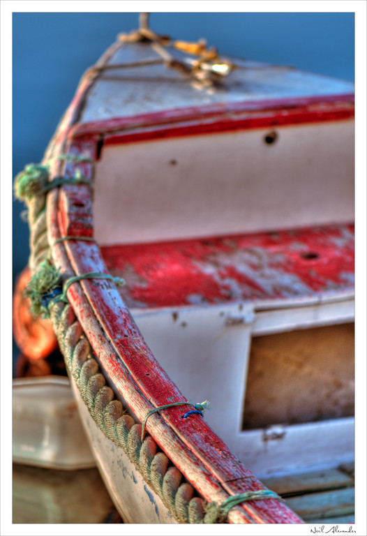 F ishing boat in Marsascala Birzebugga harbour, Malta (Click for larger)