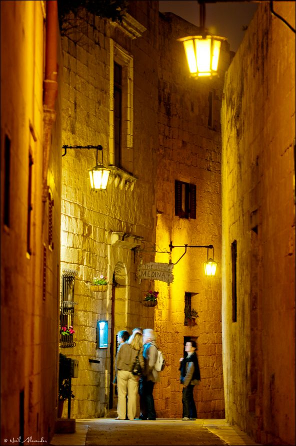 T he ancient city of Mdina, Malta at night (Click to view larger)
