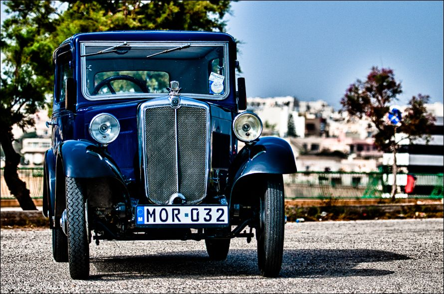 H DR image of a pre-war Morris in Malta
