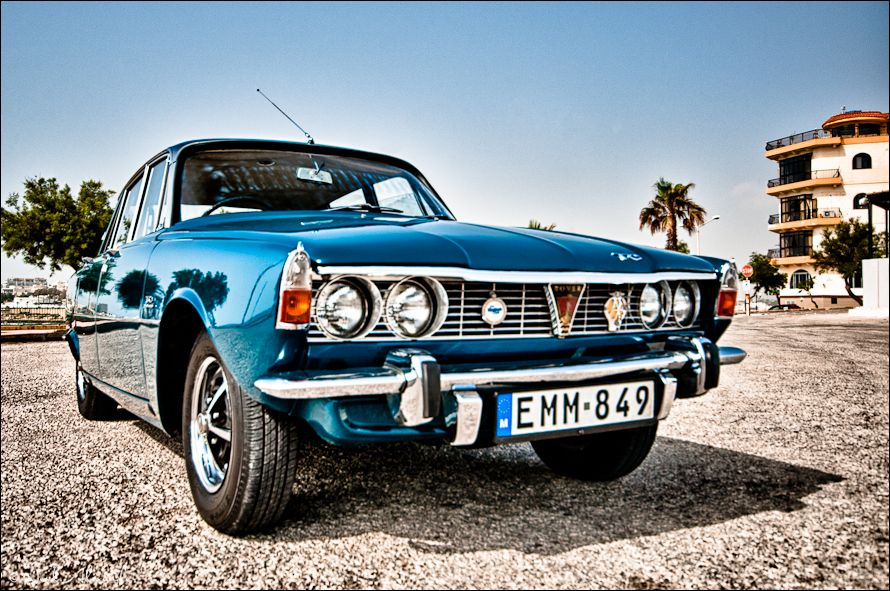 H DR image of a 1970's Rover 2000 TC in Malta