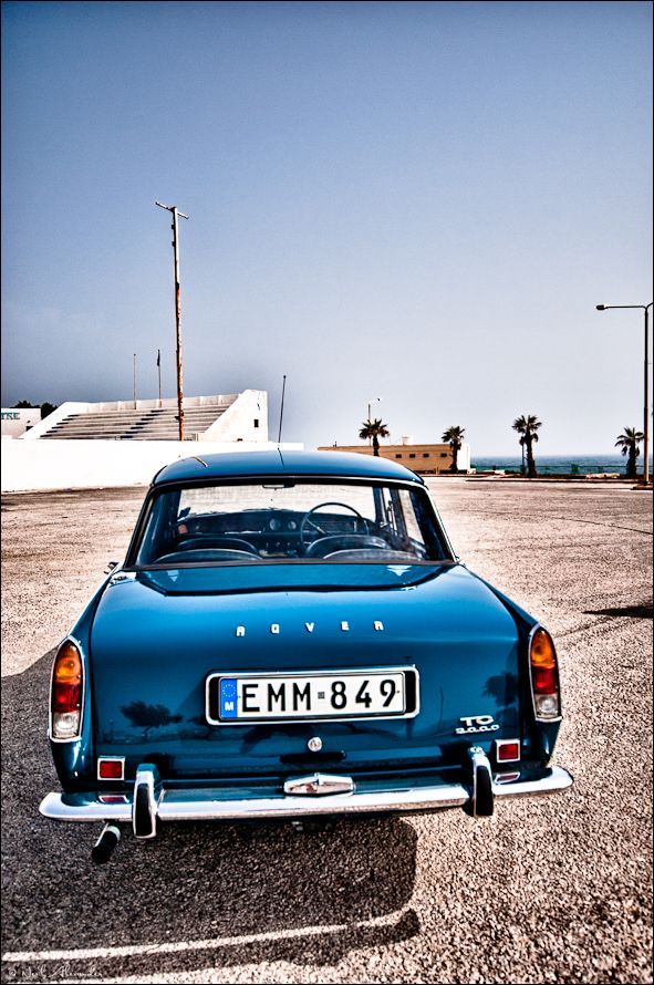 HDR image of a 1970's Rover 2000 TC in Malta