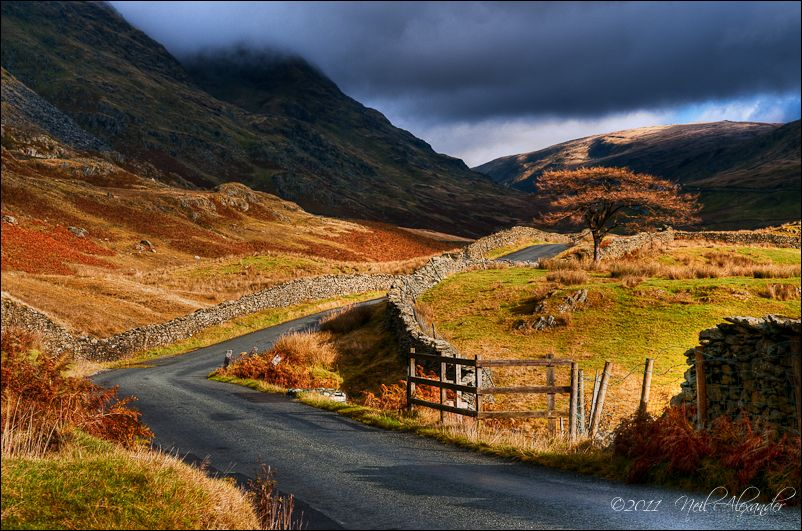 View up The Struggle in the Lake District on an Autumn morning