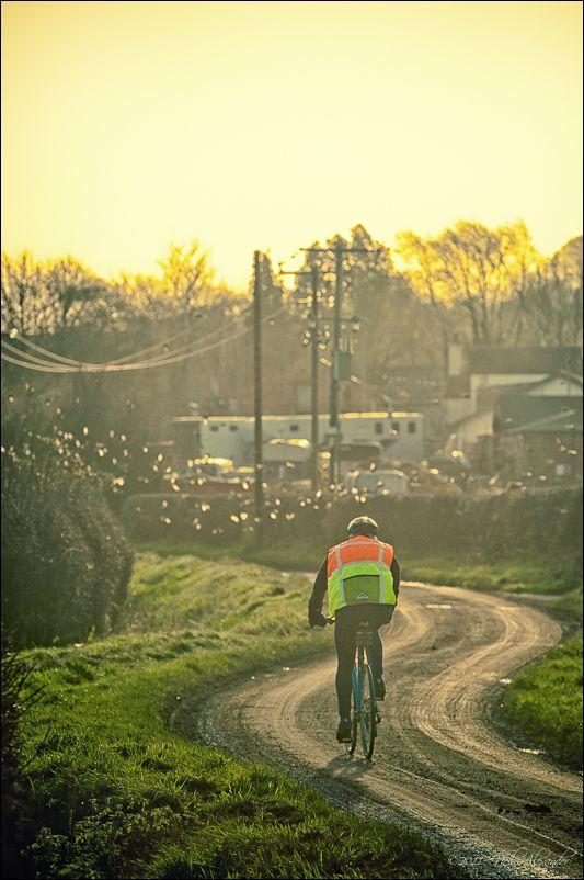 Winter cyclist, Lymm