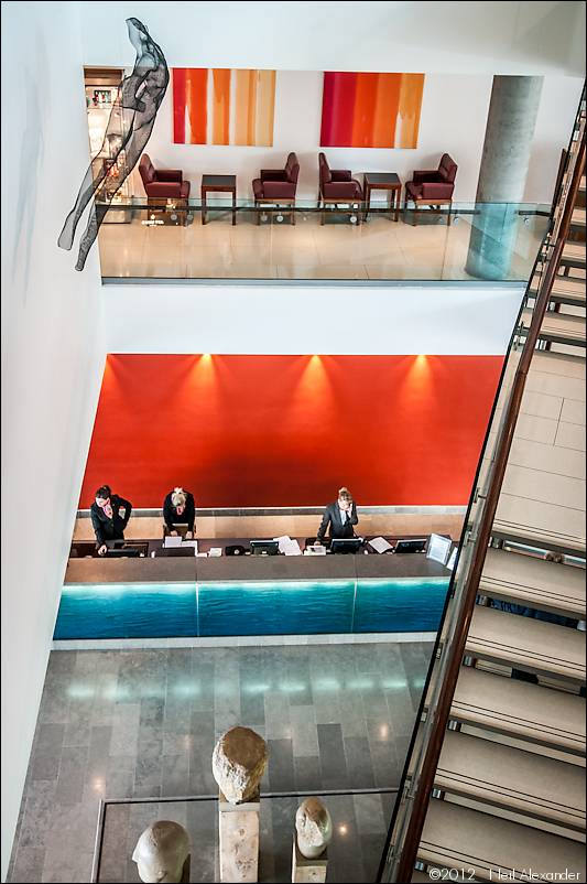 The lobby at the Lowry Hotel, Manchester by Neil Alexander