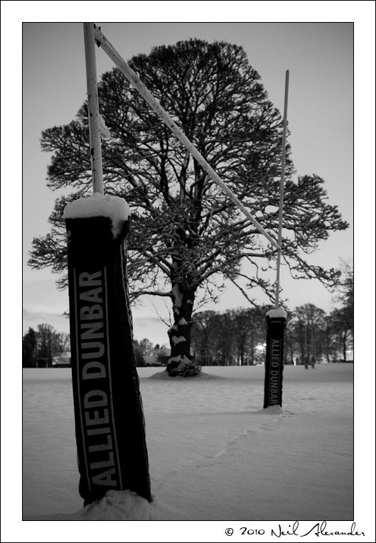 Rugby is cancelled due to snow by Neil Alexander