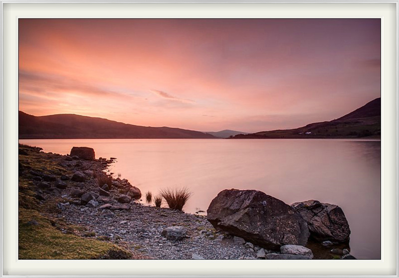 Desktop wallpaper for December 2012 - Llyn Celyn at dawn