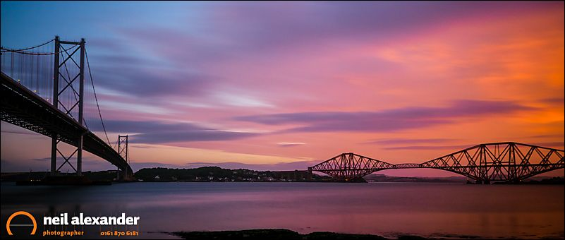 Forth Road and Railway Bridges, Fife, Scotland
