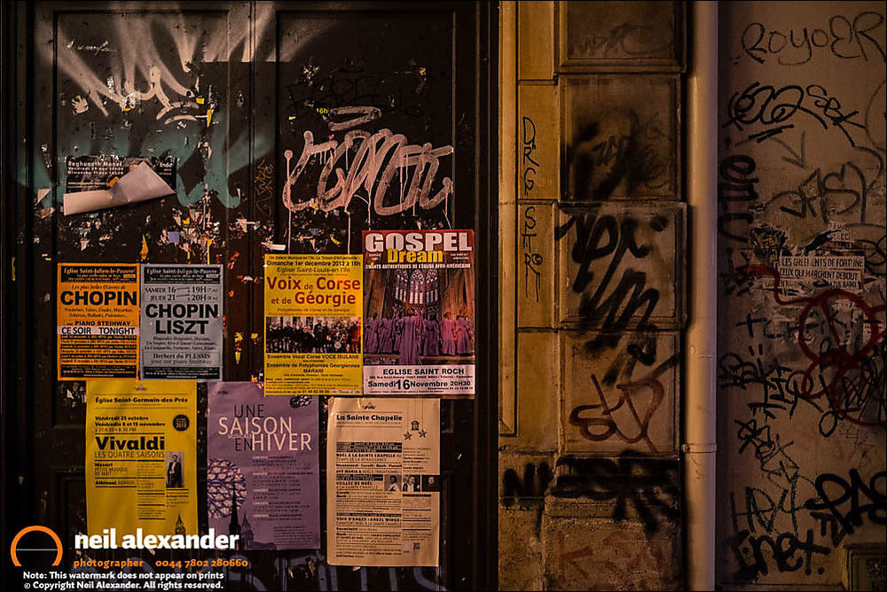 Flyposters and graffiti, Paris