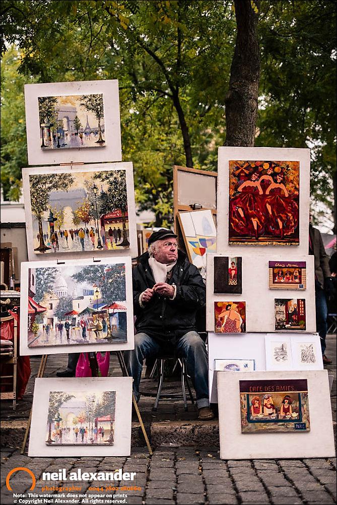 Street endor, Sacr�-Coeur, Paris