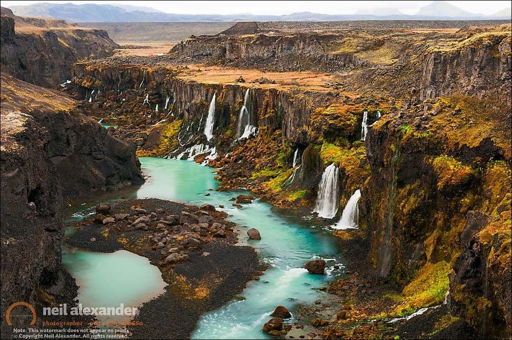 Driven To Tears. Hrauneyjafoss, Iceland.