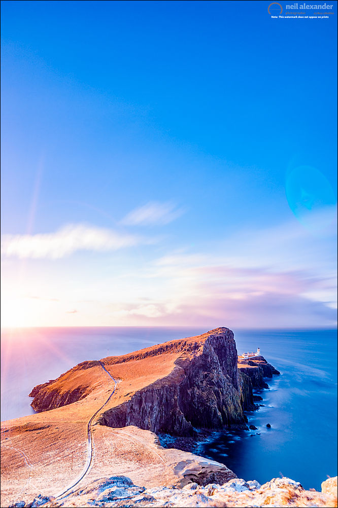 Neist Point Lighthouse at dawn