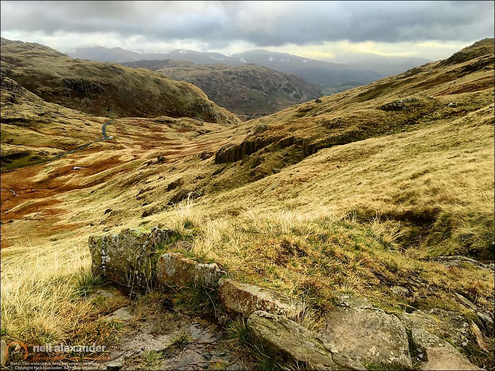 The path back down from Swirl How