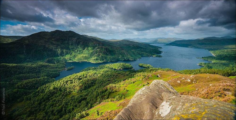 Loch Katrine from Ben A'an, Loch Lomond and The Trossachs Nation