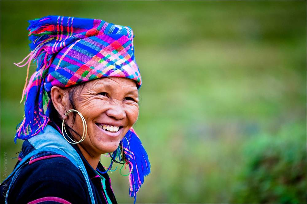 HMong woman in Sapa region, North Vietnam