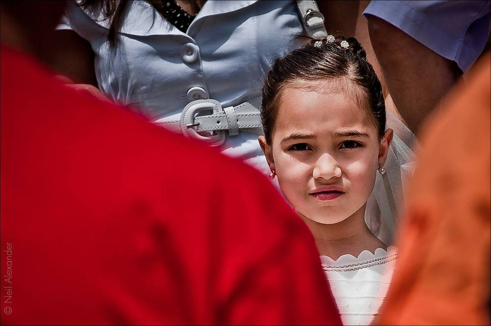 Little girl at Marsaxlokk festival