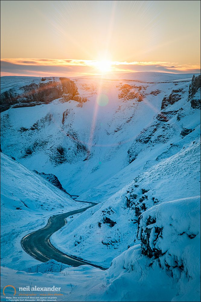 Winnats Pass at dawn