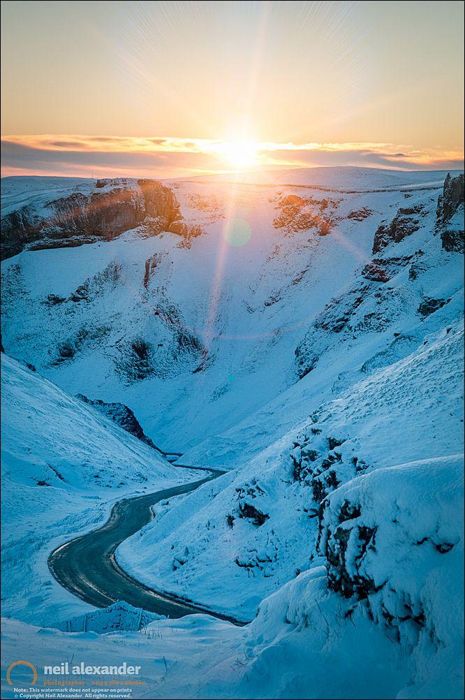 Winnats Pass at dawn