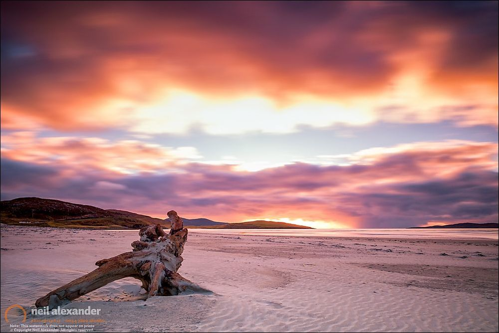 Home is where the heart is but your heart had to roam. Drifting over bridges never to return. Luskentyre beach, Harris.  Click here for prints.