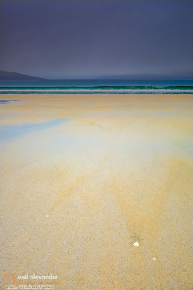 Luskentyre beach, Harris. Click to view large.  Prints here .