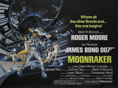 "With the COMING ATTRACTIONS feature, I like to showcase the very best in movie trailers past and present. This time around - well - not so much. The announcement this week of SKYFALL, the new James Bond film, prompted this rather self-indulgent entry. Now, MOONRAKER isn't often to be found at the top of those ""best Bond movies"" lists. In fact, it's often cited as the worst 007 film (to which I say - have you never seen A VIEW TO A KILL?). Curiously, it wasn't meant to be the 11th Bond movie. At the end of its credits, its predecessor, THE SPY WHO LOVED ME, promised that 007 would return in FOR YOUR EYES ONLY. The success of a little film called STAR WARS prompted a rapid change in direction and soon EON Productions was jumping on the cantina band wagon and launching the star of the franchise skyward. The teaser trailer for MOONRAKER was a neat parody of commercials. For years, it remained frustratingly hard to find but has recently surfaced again on YouTube. The quality isn't great but you'll get the idea: Immediately prior to the film's release, the official trailer was launched. Clearly, all the imaginative effort was used up on the teaser. This version takes the lazy option: want to see MOONRAKER but only have four minutes to spare? Then just watch this trailer - it's a compression of the film with the talky bits taken out. Hardly a shining example of how to craft a trailer but from the opening shot of a space shuttle scored with Brazilian beats, it's undeniably exciting: As a 14 year old kid in 1979, this trailer ticked all the boxes for me. OO7? Check. Outer space? Check. Big action setpieces? Check. Good-looking girls in short skirts? Where do I buy my ticket? Thirty-odd years on, I've become more critical and can see the many flaws in MOONRAKER. Then again, I'll argue there's a lot to still enjoy in the movie. There are Ken Adams' brilliantly OTT sets, Derek Meddings' crisp special effects and John Barry's atmospheric score. And through the refractive haze of nostalgia, I can even forgive MOONRAKER most of its weaknesses. Just not the Shirley Bassey theme song."