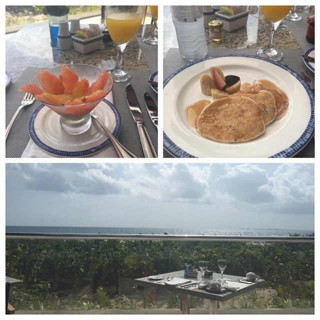 Breakfast and view in Mexico with the boo @jkauff7986