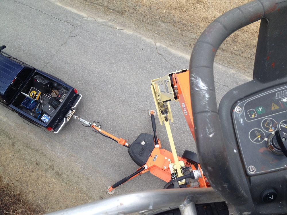 View from the bucket lift straight down.