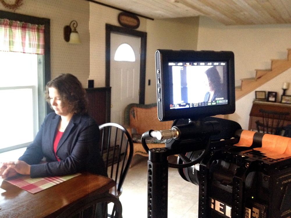Emily Cain campaign video set-up
