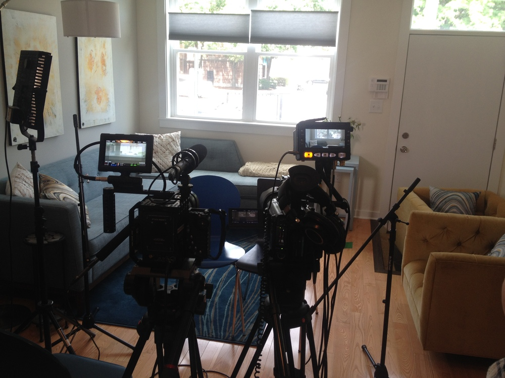 Our first interview setup of the trip