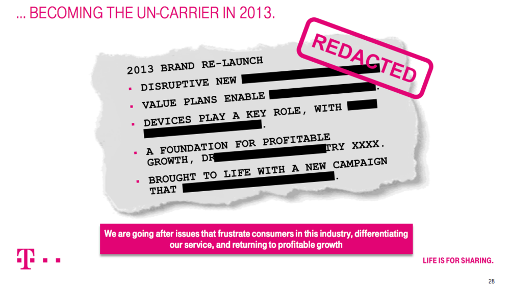 "T-Mobile USA plan to be the ""Uncarrier"" of the US market"