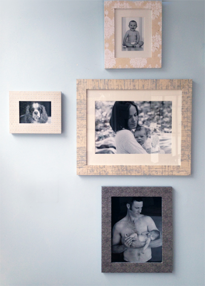 Frames on display in Heidi's Wicker Park studio.