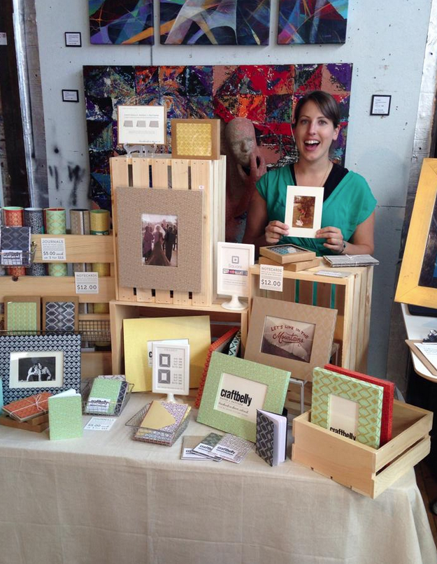 My booth at the Denver Handmade Homemade Market.