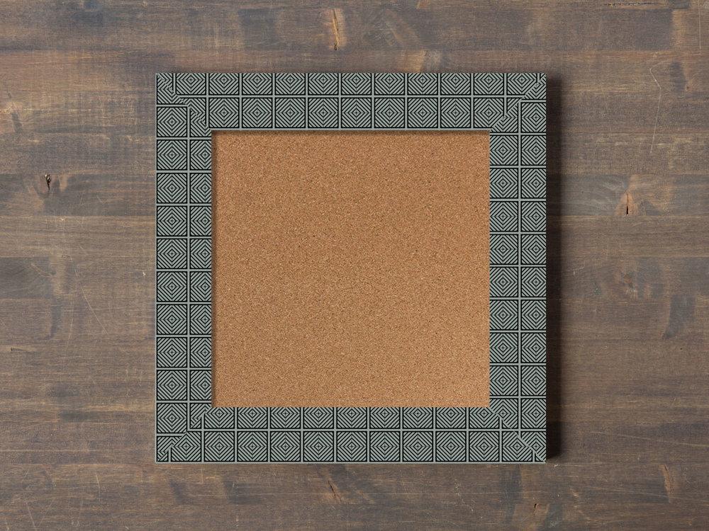 block print cork board craftbelly paper pattern