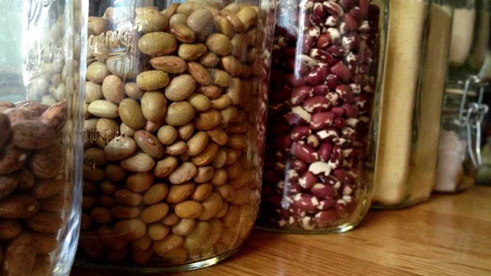 heirloom beans and corn flours