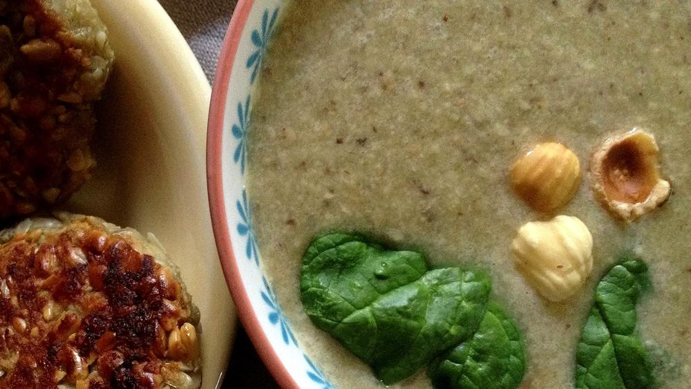 Northeastern hazelnut soup and missiiagan-pakwejigan
