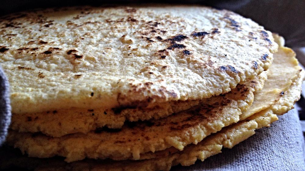 a stack of tortillas