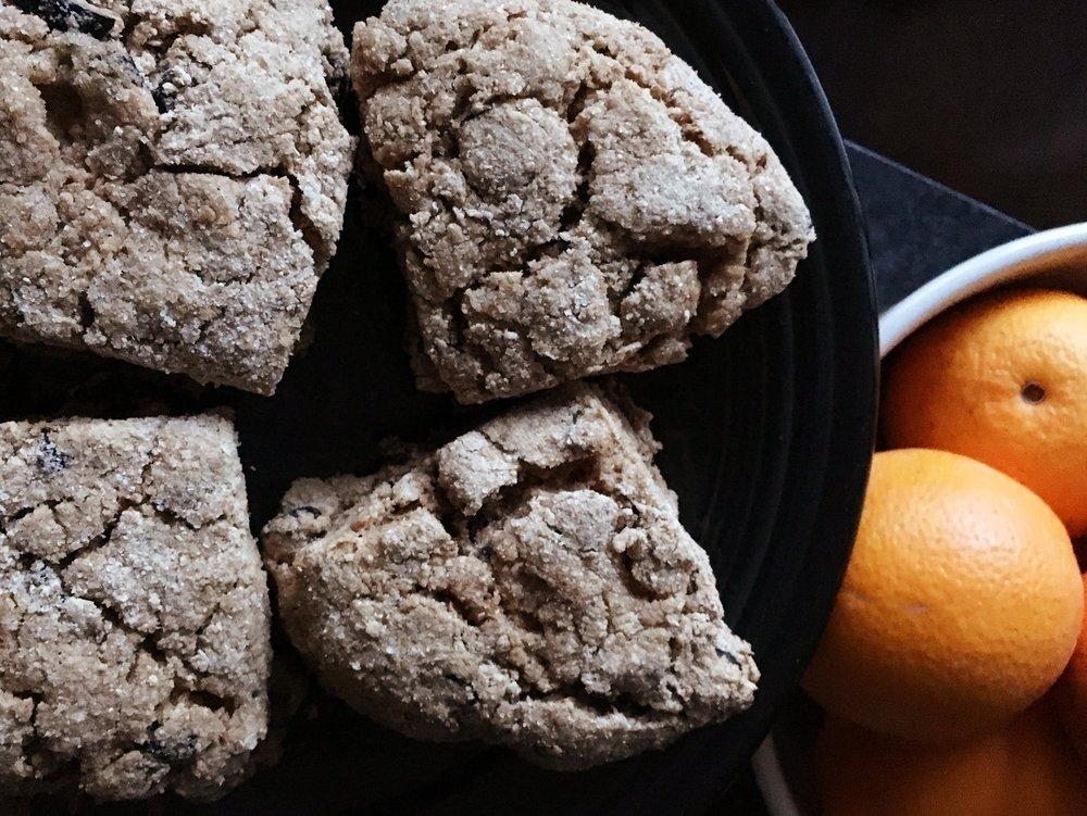 graham flour fig scones