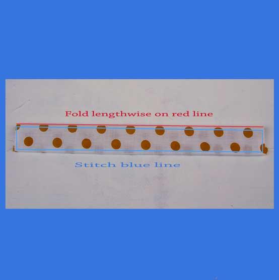 5.  Stitch strap