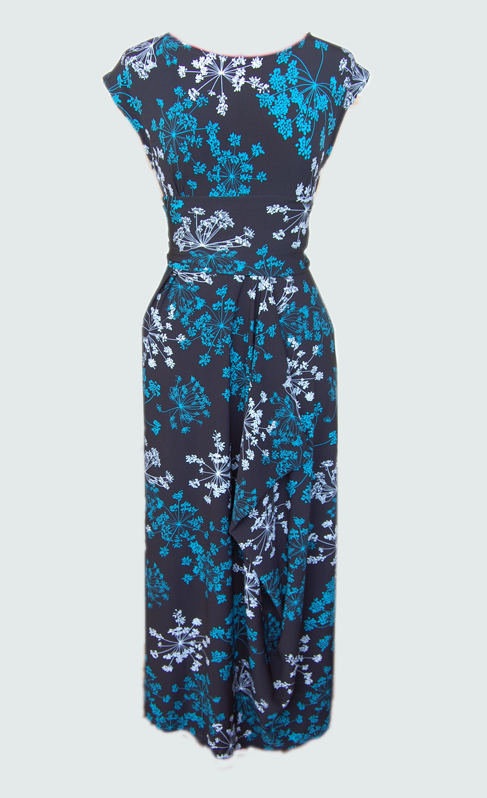 A beautiful print jersey makes this simple dress work...